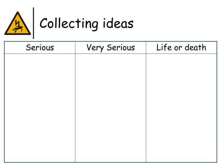 Collecting ideas