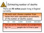 estimating number of deaths1