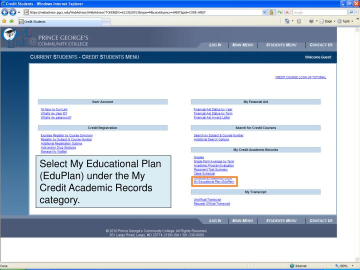 Select My Educational Plan (