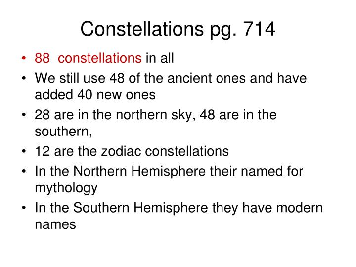Constellations pg. 714