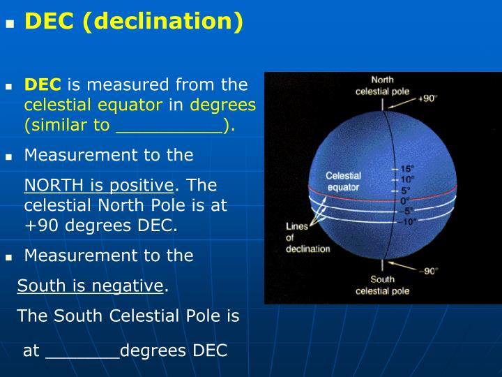 DEC (declination)