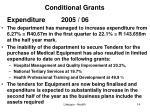 conditional grants3