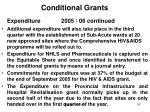 conditional grants5