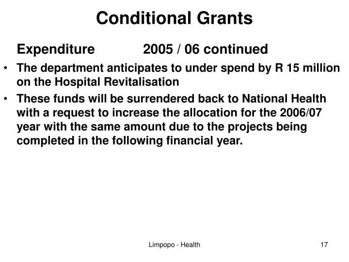 Conditional Grants