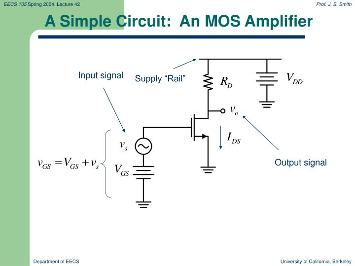 A Simple Circuit:  An MOS Amplifier