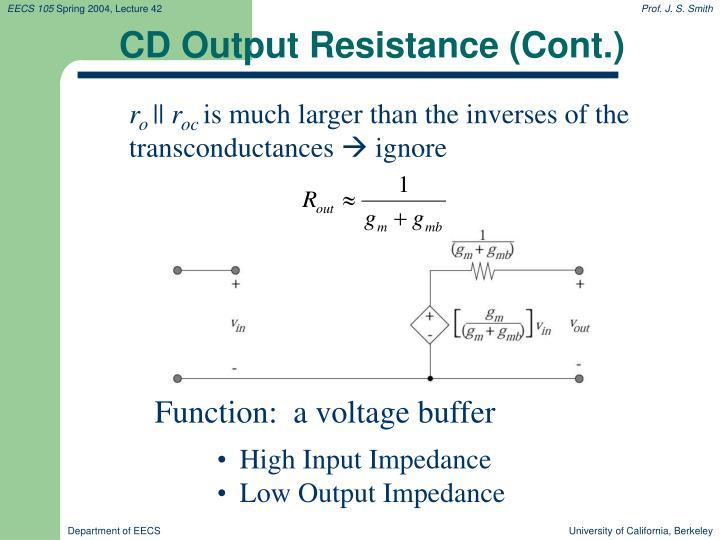 CD Output Resistance (Cont.)