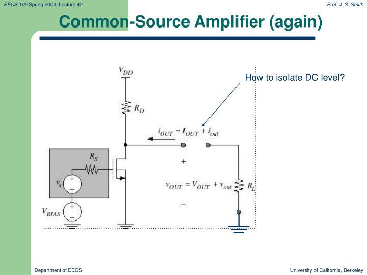 Common-Source Amplifier (again)