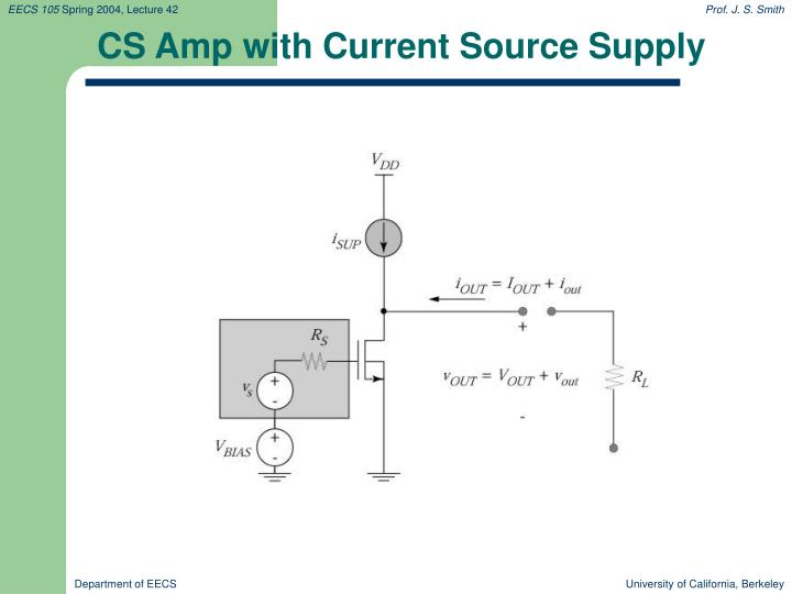 CS Amp with Current Source Supply