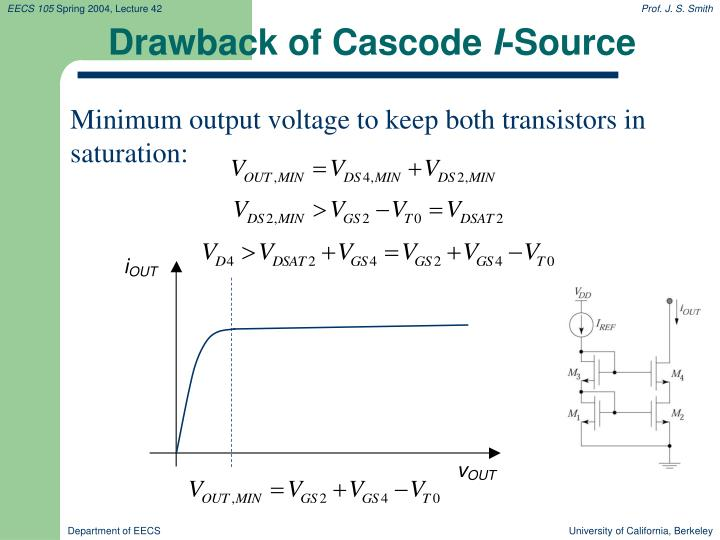 Drawback of Cascode