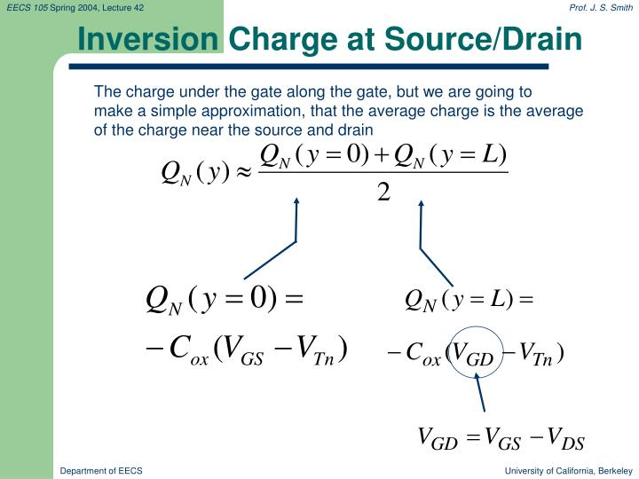 Inversion Charge at Source/Drain
