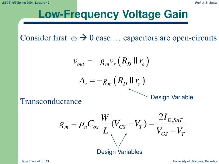 Low-Frequency Voltage Gain