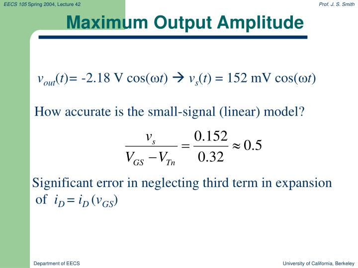 Maximum Output Amplitude
