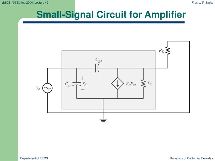 Small-Signal Circuit for Amplifier