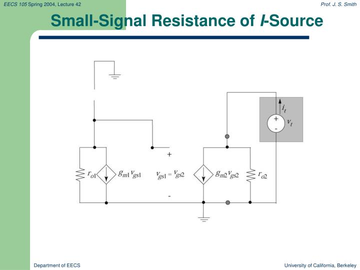 Small-Signal Resistance of