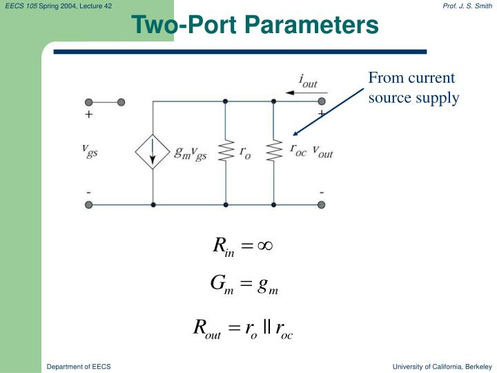 Two-Port Parameters