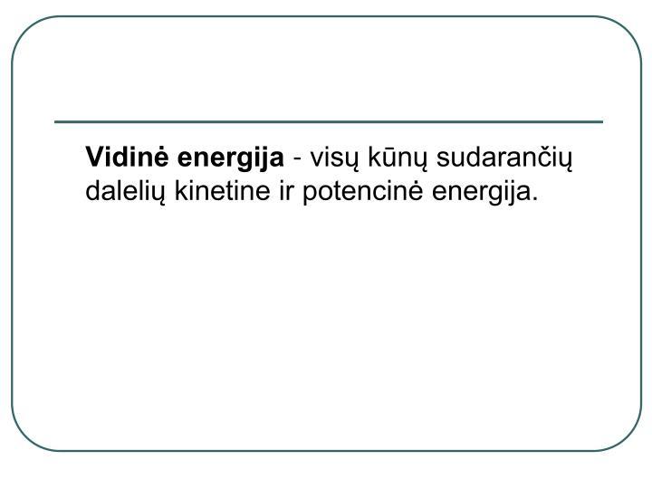 Vidinė energija