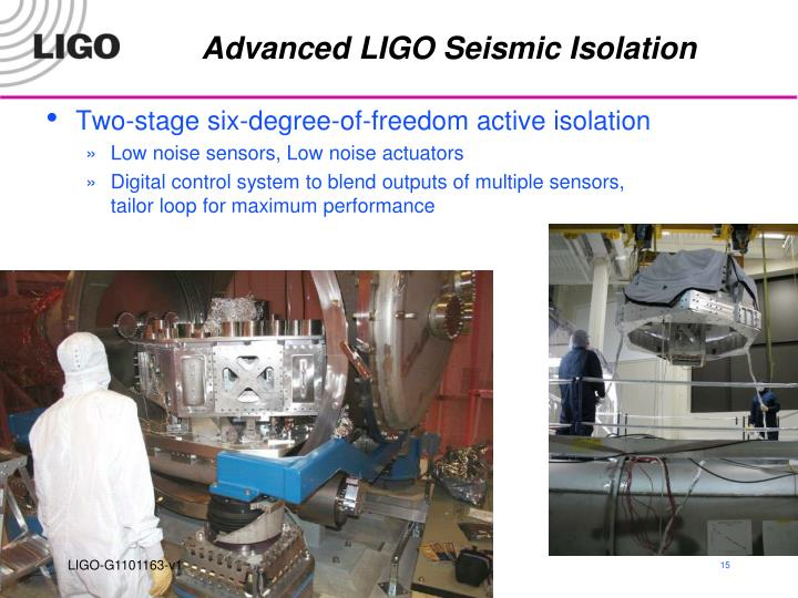 Advanced LIGO Seismic Isolation