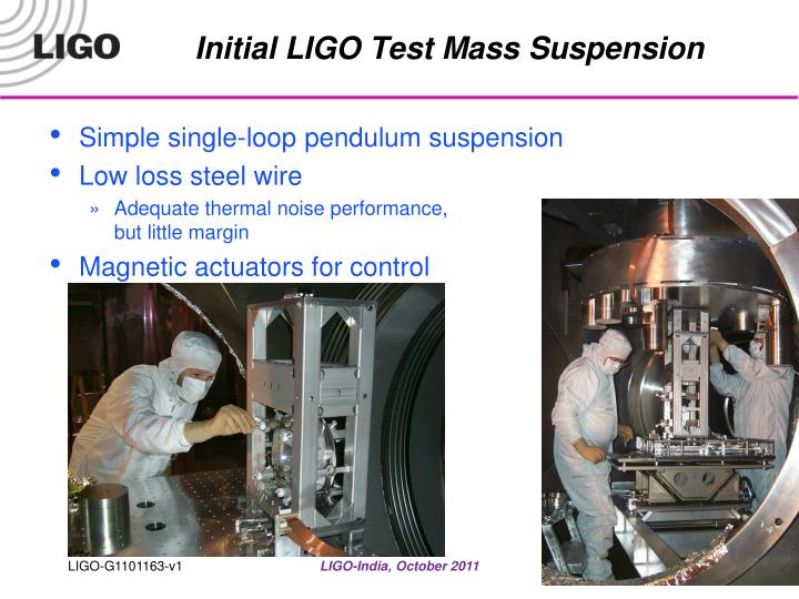 Initial LIGO Test Mass Suspension