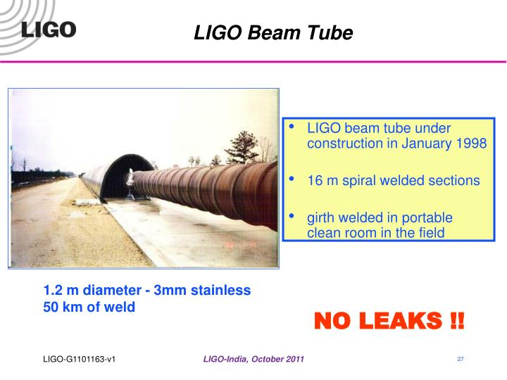 LIGO Beam Tube