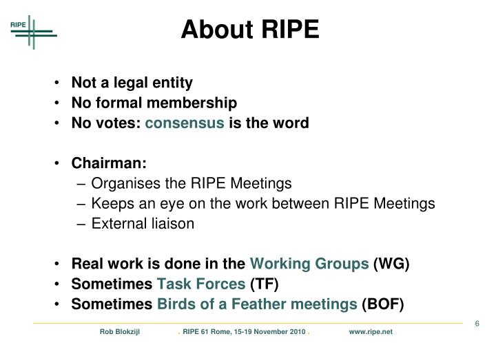 About RIPE