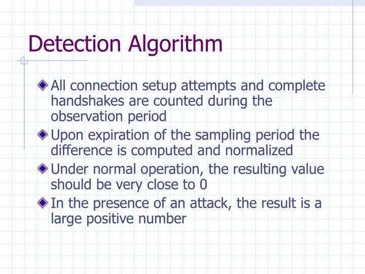 Detection Algorithm
