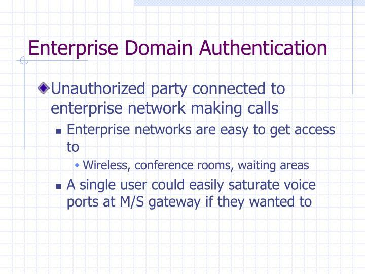 Enterprise Domain Authentication