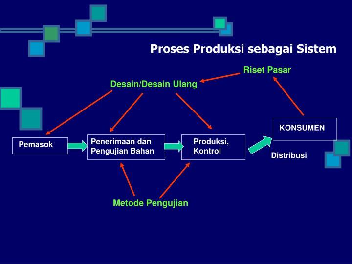 Proses Produksi sebagai Sistem