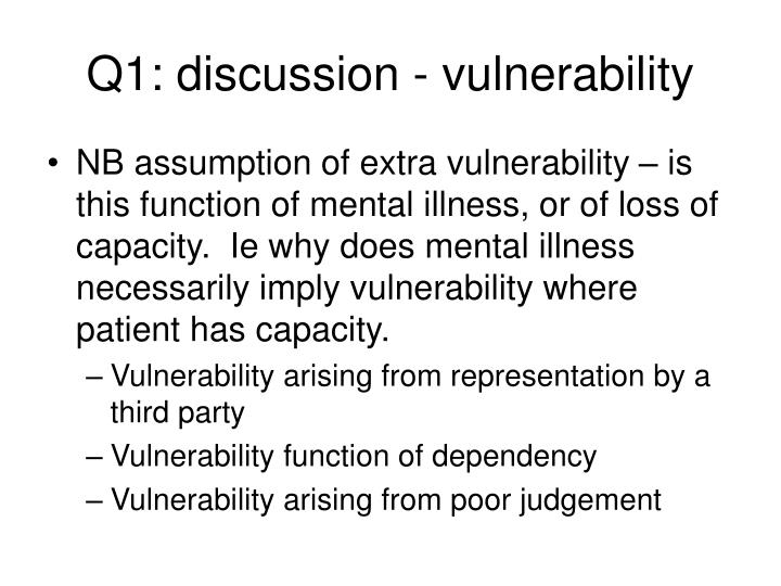 Q1: discussion - vulnerability