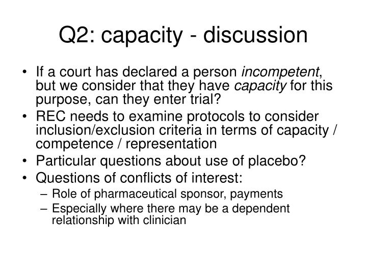 Q2: capacity - discussion