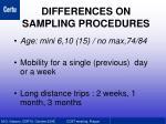 differences on sampling procedures1