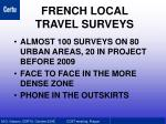 french local travel surveys