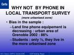 why not by phone in local transport survey