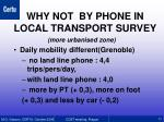 why not by phone in local transport survey1