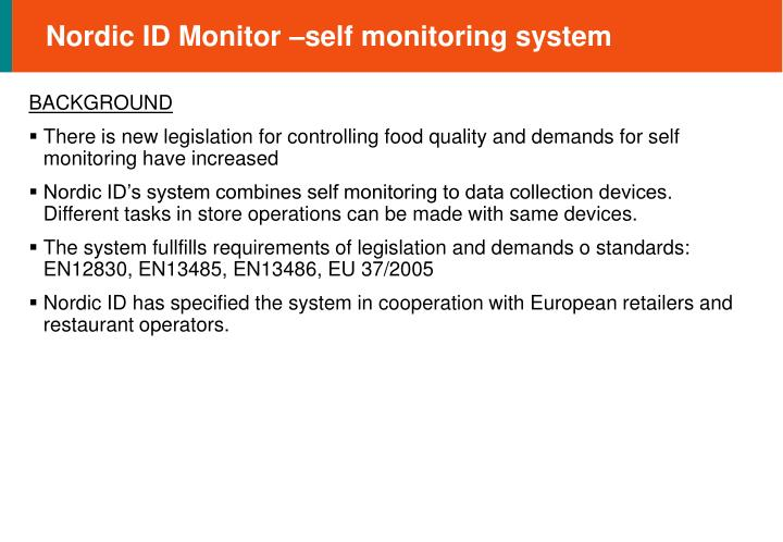 Nordic id monitor self monitoring system1