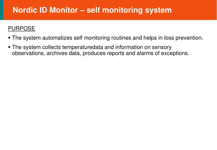 Nordic id monitor self monitoring system2
