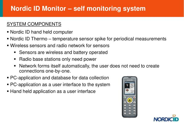 Nordic ID Monitor – self monitoring system