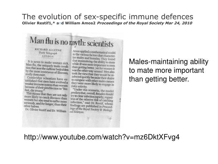 The evolution of sex-specific immune defences