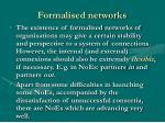 formalised networks