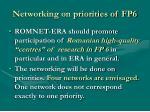 networking on priorities of fp6