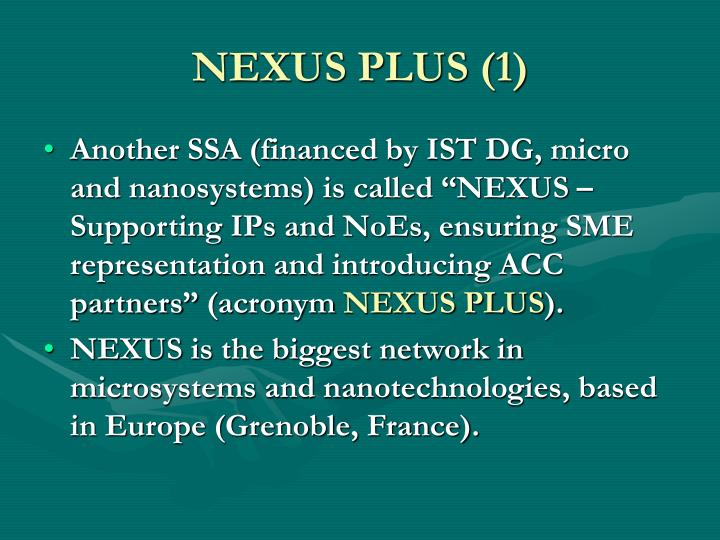 NEXUS PLUS (1)