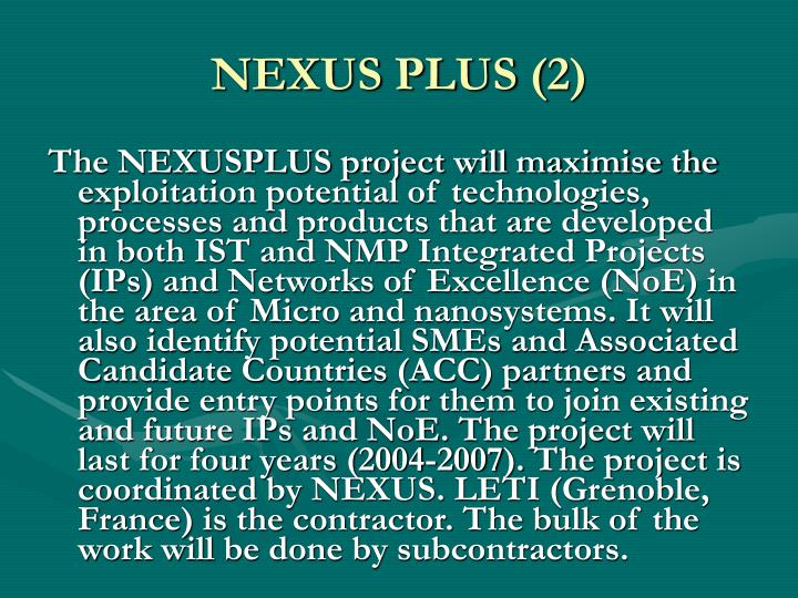 NEXUS PLUS (2)