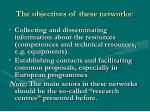 the objectives of these networks