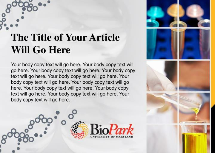 The Title of Your Article