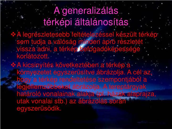 A generalizálás