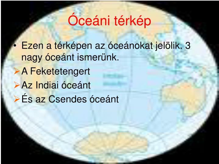 Óceáni térkép