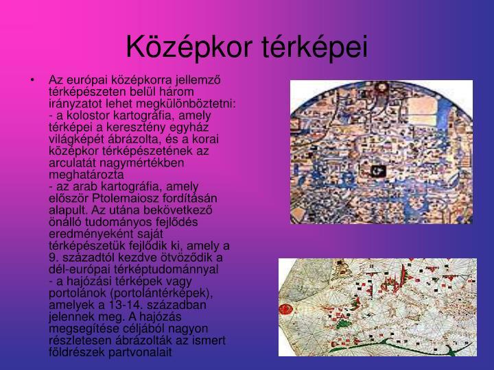 Középkor térképei