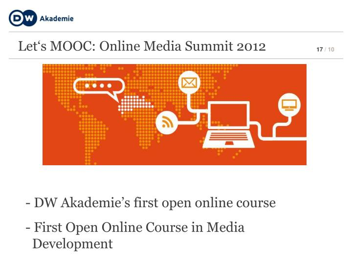 Let's MOOC: Online Media Summit 2012