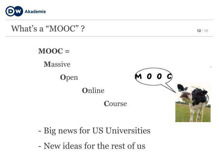 """What's a """"MOOC"""" ?"""