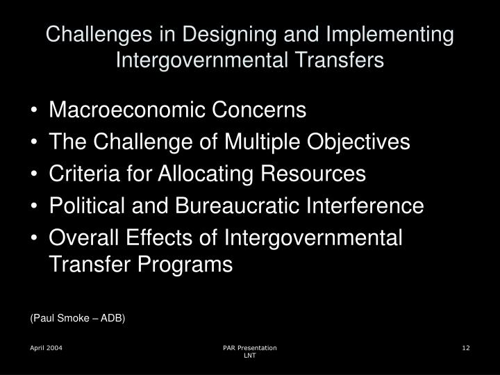 Challenges in Designing and Implementing