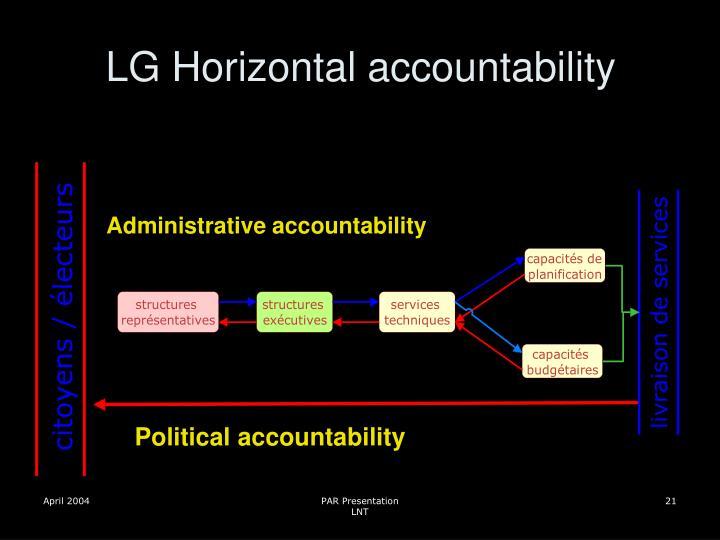 LG Horizontal accountability